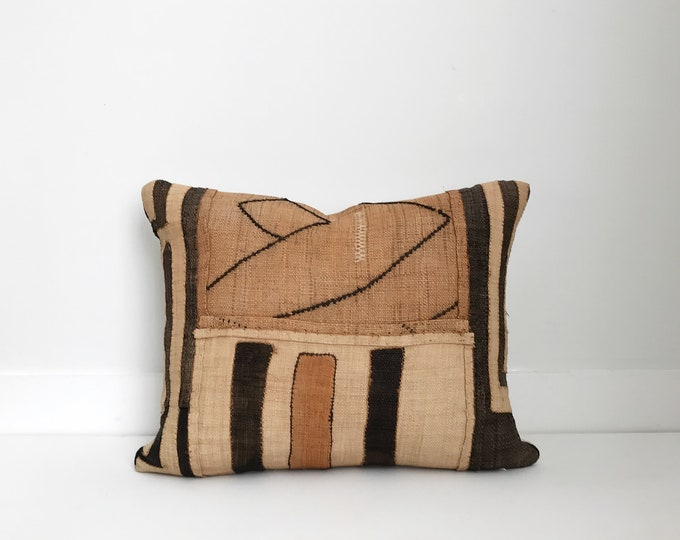 African Kuba Cloth Pillow, Kuba cloth pillow, Ethnic, Handwoven, Boho Pillow