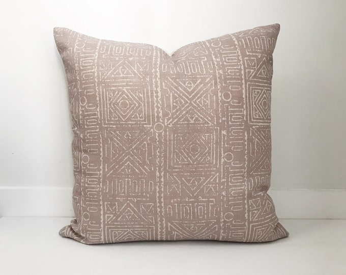 Boho Pillow, Designer, Blush Pillow, Tribal Pillow, Belgium Linen, Mudcloth, Pillow Covers, Throw Pillow, Decorative Pillows, Bohemian