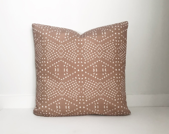 Blush Pillow Cover, Lumbar, Designer, Boho Pillow