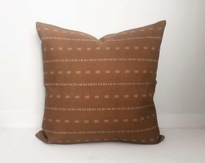 Boho Pillow, Designer, Rust Pillow, Pillow Covers, Throw Pillow, Decorative Pillows, Bohemian, Boho Pillow