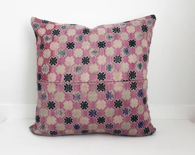 Boho Pillow, Chinese Wedding Pillow, Lumbar Pillow, Embroidered Pillow, Chinese, Decorative Pillow, Pillow Covers, Boho, Asian Pillow