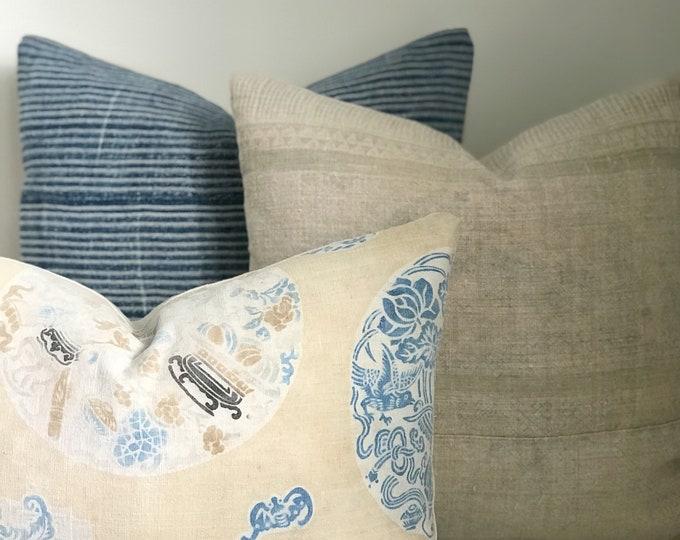 Boho Pillow Collection, Pillow Bundle, Pillow Combinations, Vintage, Hmong, African Indigo, Mudcloth, One-of-a-Kind