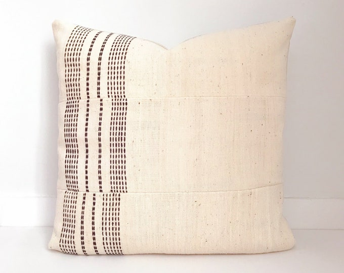 Boho Pillow, Neutral Pillow, Cream, India, Decorative Pillow, Pillow Covers, Boho Chic, Home Decor, Hand Embroidered