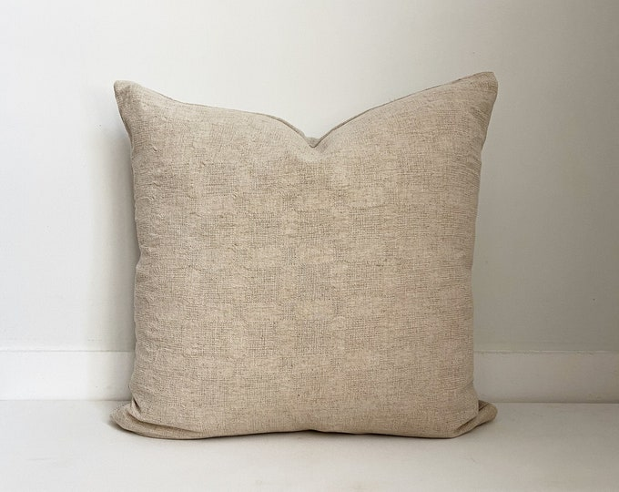 Off White Neutral Pillow, Boho Pillow, Modern Farmhouse
