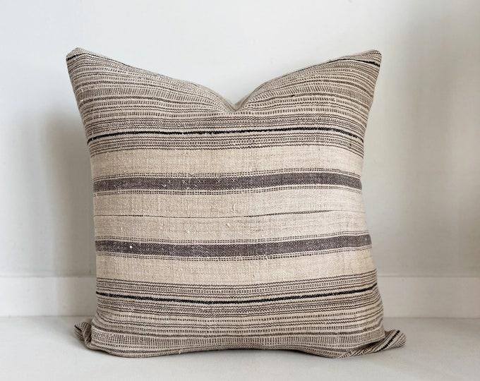 Vintage Hmong Striped Pillow Cover, Modern Farmhouse, Boho, SKU 805