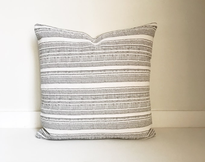 Hmong Striped Pillow Cover, Modern Farmhouse, Boho