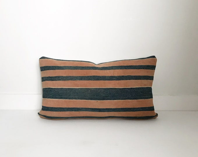 Boho Pillow, Vintage Pillow, Lumbar Pillow, Decorative Pillow, Pillow Covers, One  Of A Kind, Bohemian, Boho Chic, Rust, Terra-cotta pillow
