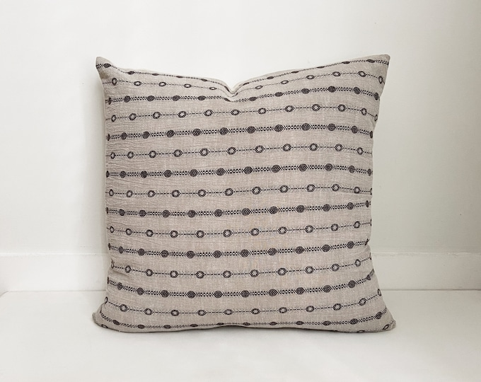 Gray and Black Pillow, Asian, Boho Pillow, Modern Farmhouse