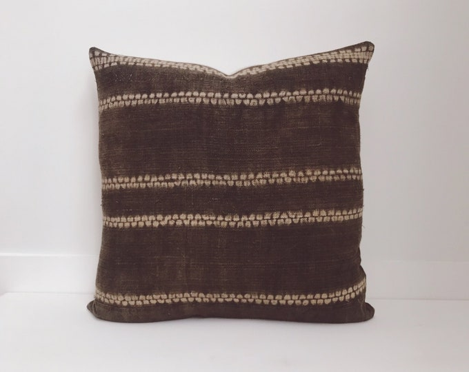 Boho, Pillow, Hmong, Vintage, Pillow Covers, Throw Pillow, Decorative Pillows, Bohemian, Batik, Brown, Hemp, Home Decor, Tye Dye Pillows