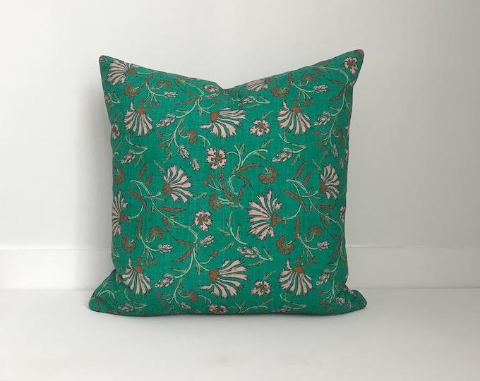 Outdoor Pillows, Pillow cover, Outdoor Boho Pillow, Outdoor Pillow Cushion, Bohemian, Boho, Outdoor Floral Pillow, Green Pillow