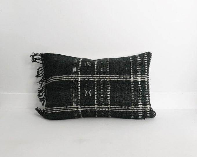Boho Pillow, Wool Pillow, Neutral Pillow, Gray, India, Decorative Pillow, Pillow Covers, Striped Pillow, Boho Chic, Home Decor