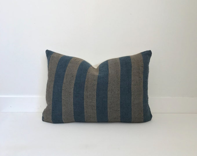 Boho Pillow, Grain Sack Pillow, Striped Pillow, Designer, Handwoven, Pillow Covers, Throw Pillow, Decorative Pillows, Texture