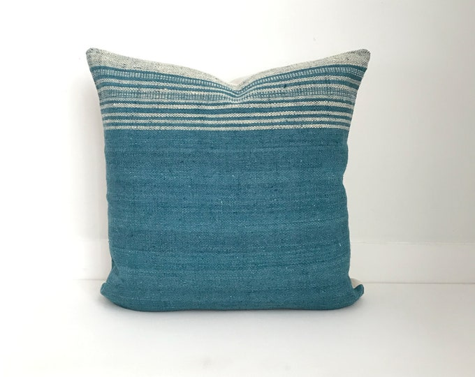 Boho Pillow, Wool Pillow, Neutral Pillow, Teal, India, Decorative Pillow, Pillow Covers, Boho Chic, Home Decor