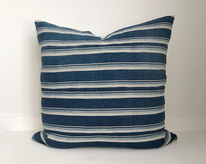Indigo Pillow, Indigo Mudcloth, Vintage Indigo Pillow, Indigo, Boho Pillow, Mudcloth, Mud Cloth, Pillow Covers,  Shibori