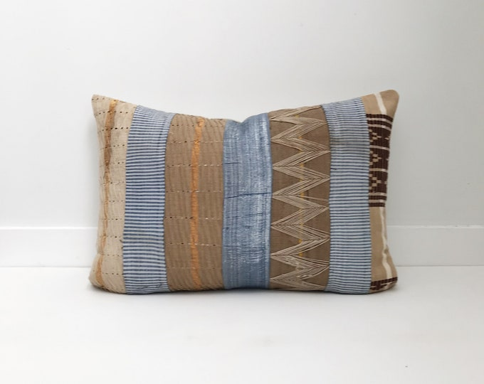 Handwoven African Pillow Cover, Lumbar, Boho Pillow