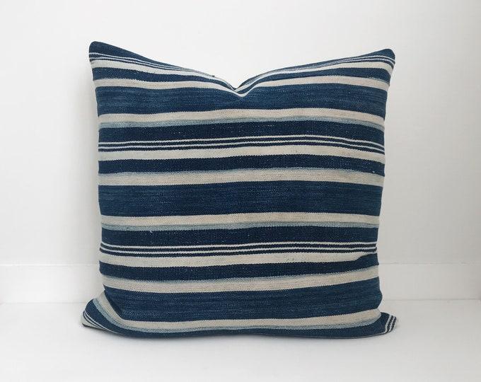 Indigo Pillow, Indigo Mudcloth, Vintage Indigo Pillow, Indigo, Boho Pillow, Mudcloth, Mud Cloth, Pillow Covers,  Shibori