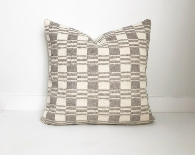 Cream and Gray Pillow Cover, Modern Farmhouse, Boho Pillow, Custom Sizes