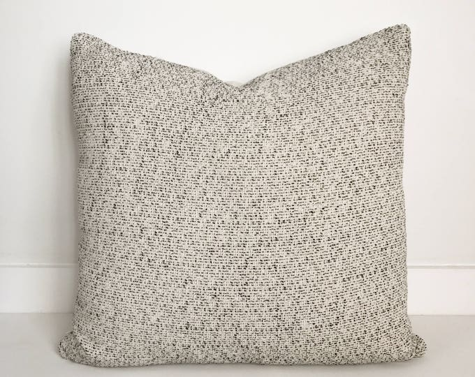 Black and White Pillow, Asian, Boho Pillow