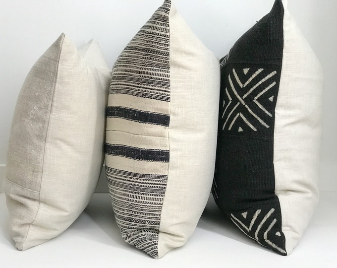 Boho Pillow Collection, Pillow Bundle, Pillow Combinations, Vintage, Hmong, African Mudcloth, One-of-a-Kind