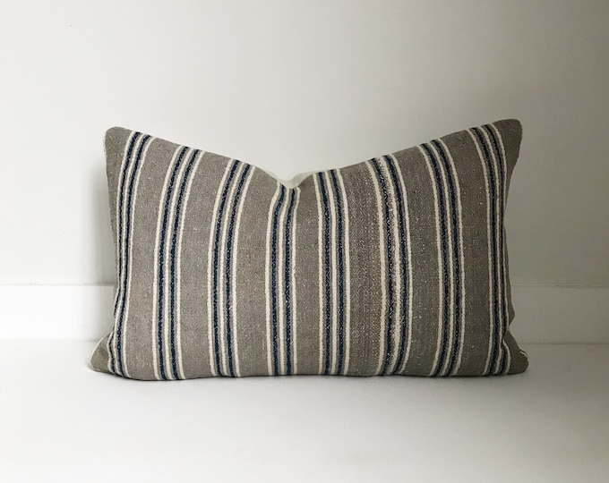 Hmong Striped Pillow Cover, Lumbar, Modern Farmhouse, Boho Pillow