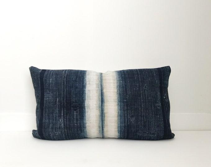 Boho, Pillow, Hmong, Vintage, Pillow Covers, Throw Pillow, Decorative Pillows,  Bohemian, Batik, Blue, Hemp, Home Decor, Outdoor Pillows