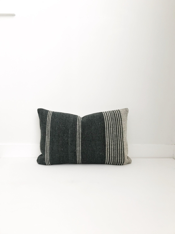 Boho Pillow Wool Pillow Gray India Decorative Pillow Pillow Covers