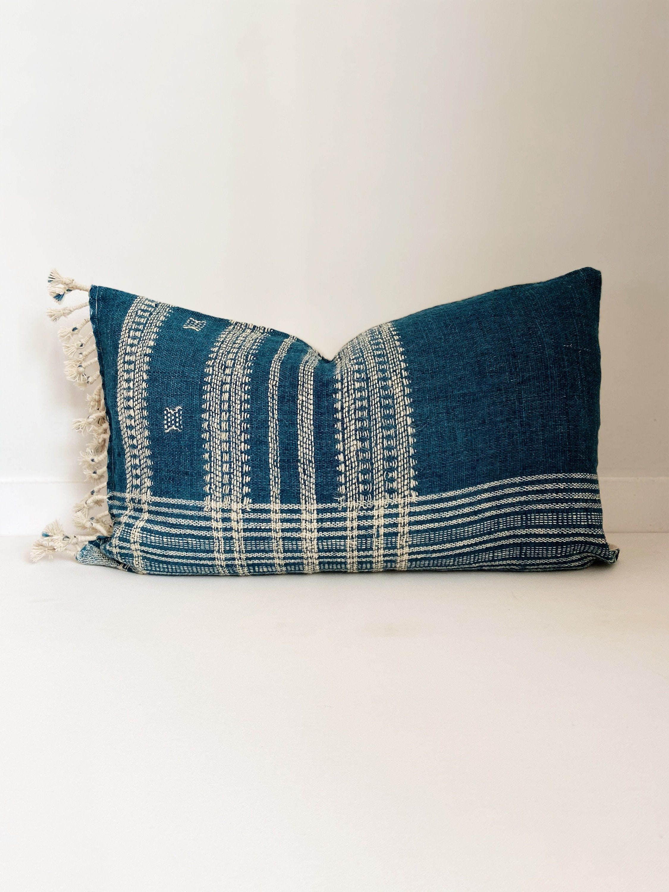 Picture of: Wool Pillow Cover Teal Blue Boho Pillow Modern Farmhouse