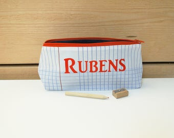"""School kit """"first name"""" fabric cotton school lines seyes ON ORDER"""