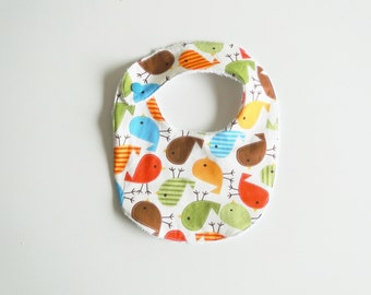 "Bib ""Chicks"" in cotton and sponge, birth size at 12 months"