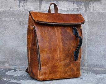 35b9395069643 Personalisierte Laptoptasche für Damen aus Leder Rucksack Herren Ledertasche