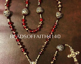 Gold snd Red Rosary