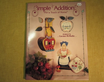 Simple Additions,book by Carolee McMullin, patterns and instructions for painting country folk and baby decor, with 3 preprinted designs
