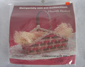 """Hearth basket kit,Burgundy Hill collection,reed, 8""""x8 1/2""""x3 1/2"""""""