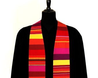 "Clergy Stole, Sunset, #139, Pastor Stole, Minister Stole, 54"" Length, Pastor Gift, Vestments"