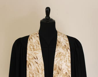 "Clergy Stole, Wheat #169, Pastor Stole, Minister Stole, 54"" Length, Pastor Gift, Vestments, Church"