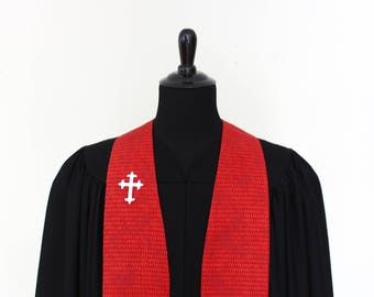 """Clergy Stole, Good Seeds #223, Pastor Stole, Minister Stole, 54"""" Length, Ordination Gift, Vestments, Church"""