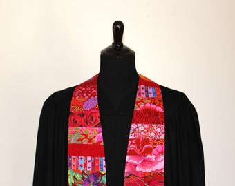 "Clergy Stole, Joyful Red #273, Pastor Stole, Minister Stole, 54"" Length, Vestments, Church"