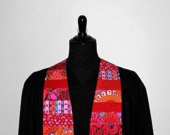 "Clergy Stole, Joyful Red #272, Pastor Stole, Minister Stole, 54"" Length, Vestments, Church"