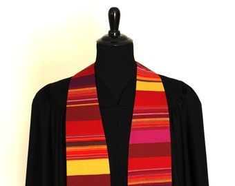 """Clergy Stole, Sunset, #136, Pastor, Minister, 54"""" Length, Ordination Gift, Vestments, Church"""