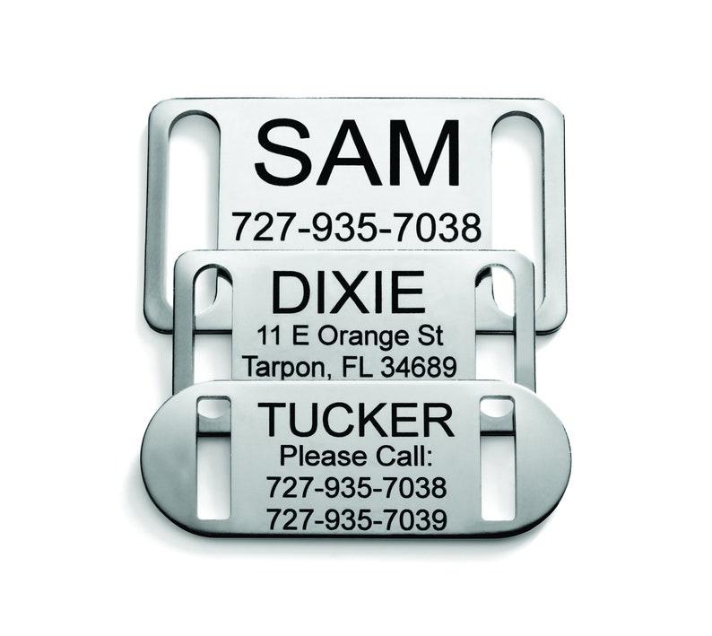 Slide-On Collar Pet ID Tag image 0