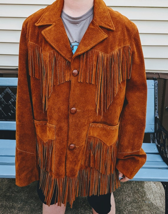 Vintage Pioneer Wear Suede Leather Western Jacket