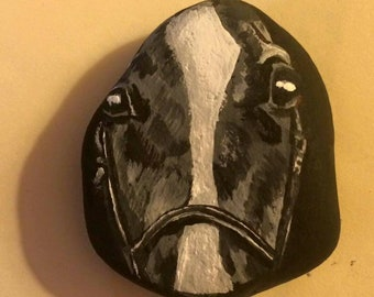 Small painted horse rock