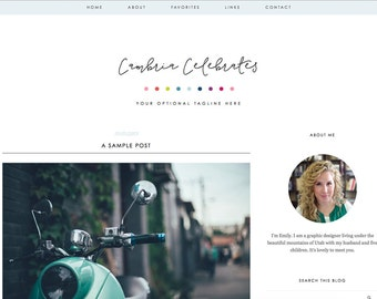 """Blogger Template, Blog Template - """"Cambria 