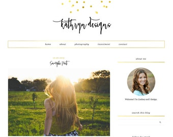 "Blogger Template, Blog Template, Mobile Responsive - ""Kathryn 