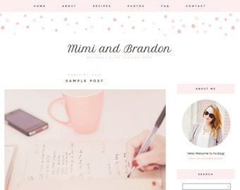 "Blogger Template, Blog Template - ""Mimi 