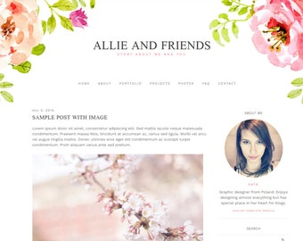 "Blogger Template, Blog Template - ""Allie 