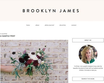 """Blogger Template, Blog Template - """"Brooklyn 