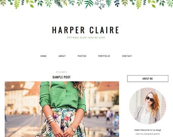 "Blogger Template, Blog Template, Blog Design - ""Harper 