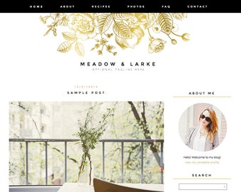 "Blogger Template, Blog Template - ""Meadow 