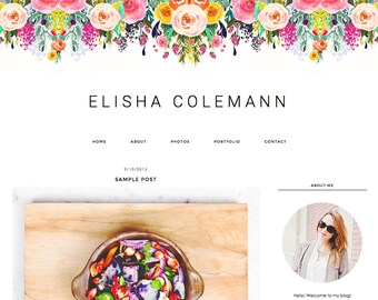 "Blogger Template, Blog Template, Blog Design - ""Elisha 